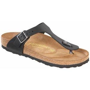 Birkenstock Gizeh Black Oiled Leather Sandals Sz10